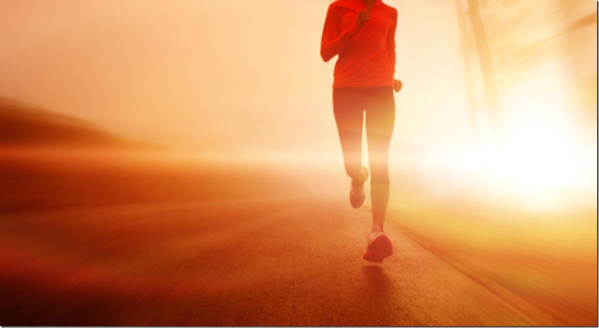 motion blur athlete running