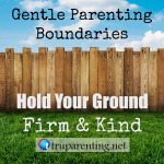 gentle parenting boundaries